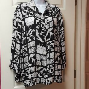 Purses and Shoes Blouse
